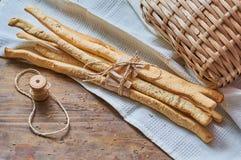 grissini с солью и розмариновым маслом Стоковое Изображение RF