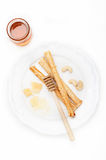 Grissini bread sticks with cheese Royalty Free Stock Image