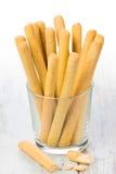 Grissini - fresh breadsticks Stock Photography