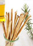 Grissini italian bread sticks Stock Photography