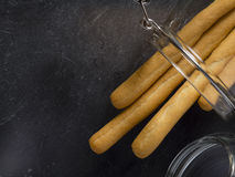 Grissini. Italian breadsticks worlwide known , Grissini from Turin Stock Photos