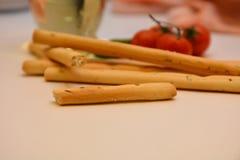 Grissini italians snack tomato oil. Food italian snack Stock Photos