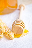 Grissini with sesame seeds and honey Stock Photography