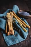 Grissini - traditional Italian salty breadsticks Stock Photo