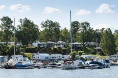 Grisslehamn marina Szwecja i camping Zdjęcie Stock