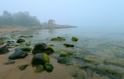 Grisslehamn seascape - foggy morning Stock Photo