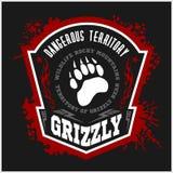 Grisslybjörn - militär etikett, emblem och design Royaltyfri Fotografi