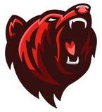 Grisslybjörnhuvud stock illustrationer