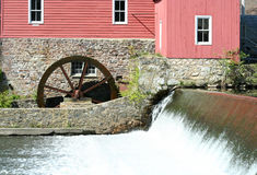 Grist mill. A old grist mill on a river Stock Images
