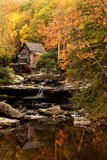 Grist mill during autumn Royalty Free Stock Image