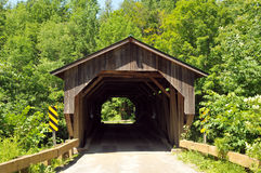 Grist Mill Bridge. Spanning the Brewster River, in Cambridge, Vermont royalty free stock photography