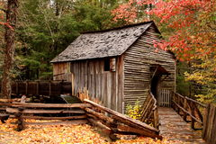 Grist Mill at Cades Cove Stock Photo