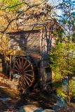 Grist Mill in Stone Mountain Park, USA. Grist Mill and the creek in the Stone Mountain Park in sunny autumn day, Georgia, USA Royalty Free Stock Photography