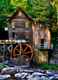 Grist Mill. Front picture of old grist mill in West Virginia during the early fall Stock Images
