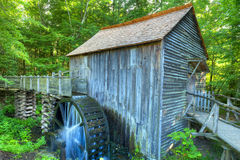 Grist Mill. John Cable Grist Mill in the Cades Cove area of the Great Smoky Mountain National Park. This working grist mill dates back to about 1867 royalty free stock photos