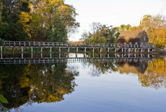 Grist Mill. Old Grist Mill in Sleepy Hollow, NY with reflection Royalty Free Stock Photography