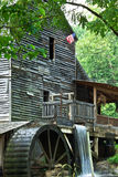 Grist Mill with Operating Water Wheel Stock Image
