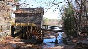 Grist Mill in Stone Mountain Park, USA stock video footage