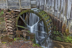 Grist Mill Water Wheel In Cades Cove Stock Photos