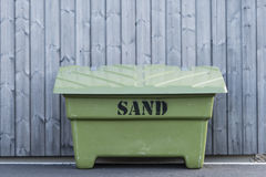 Grit box with sand Royalty Free Stock Photo