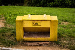 Grit container Stock Image