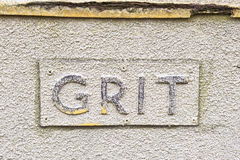 Grit sign Stock Photos
