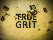 Grit Sign vraie Images libres de droits