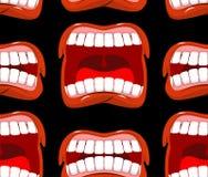 Grita el modelo inconsútil de los labios fondo del grito Emoción agresiva Foto de archivo