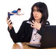 Boss enojado en el teléfono Fotografía de archivo