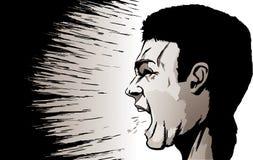 Gritando o homem ilustração stock