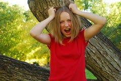 Gritar adolescente Fotografia de Stock