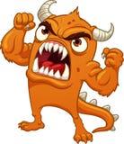 Gritar alaranjado irritado do monstro dos desenhos animados ilustração stock