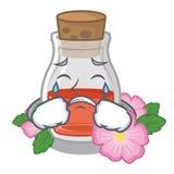 Gritar aumentou óleo de semente a forma dos desenhos animados ilustração stock