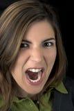 Gritar da mulher Fotografia de Stock Royalty Free