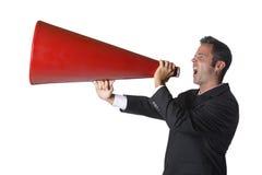 Gritar do homem de negócios Imagem de Stock Royalty Free