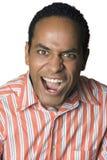 Gritar do retrato do homem do Latino Fotografia de Stock Royalty Free