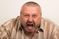 Gritar irritado do homem Imagem de Stock
