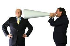 Gritar mega de uma comunicação Imagens de Stock