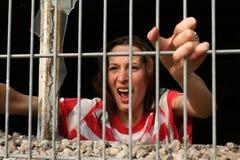 Gritar na cadeia Fotografia de Stock Royalty Free
