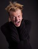 Gritar para fora forçado do adolescente imagens de stock