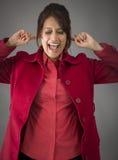 Gritaria indiana da jovem mulher na frustra? Fotografia de Stock Royalty Free