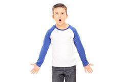 Gritaria irritada do menino Imagens de Stock Royalty Free