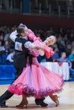 Gritcan Artem和Zagrebailova Yana执行少年1标准欧洲节目 免版税库存照片
