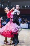 Gritcan Artem and Zagrebailova Yana perform Juvenile-1 Standard European program Stock Image