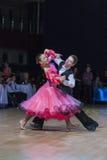 Gritcan Artem and Zagrebailova Yana perform Juvenile-1 Standard European program Royalty Free Stock Photography