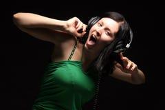 Grite e cante Fotografia de Stock