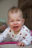 Griterío activo del bebé Imagen de archivo libre de regalías