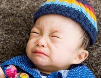 Griterío asiático del bebé Fotos de archivo libres de regalías