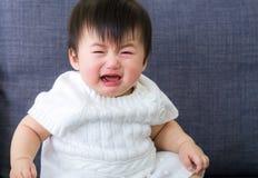 Griterío asiático del bebé Imágenes de archivo libres de regalías