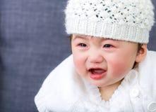 Griterío asiático del bebé Fotos de archivo